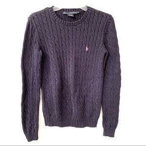 Ralph Lauren Sport Blue Cable Knit Sweater